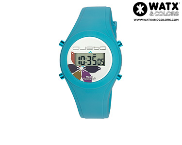 Relógio Watx & Colors® Custo Digital Flor | Turquesa