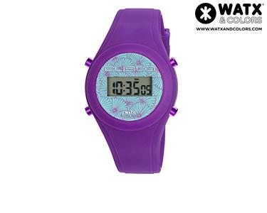 Relógio Watx & Colors® Custo Digital Simples | Azul e Roxo