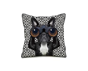 Capa de Almofada Prisma Dog em Algodão | 45X45