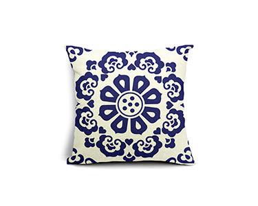 Capa de Almofada Granpa Blue em Algodão | 45X45