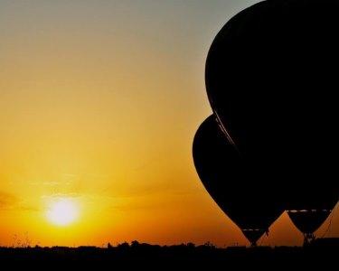 O Sonho de Voar Junto das Estrelas   Voo Nocturno de Balão para Dois