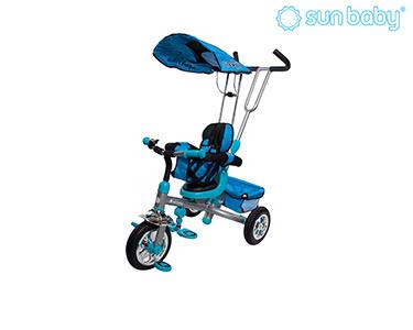 Triciclo c/ Assento Rotativo e Cestinho | Azul