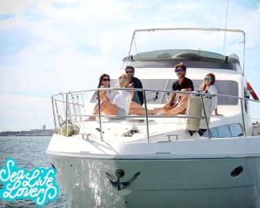 Dia de Luxo no Yacht Azimut 46 c/ Degustação de Ostras e Champanhe   Até 6 Pessoas