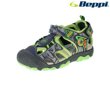 Sandália Casual Beppi® | Cinza e Verde
