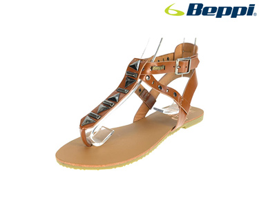 Sandálias Casuais com Tachas Beppi® | Castanho