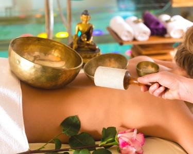 Massagem de Som com Taças Tibetanas + Ritual de Chá   50 Minutos   Saldanha