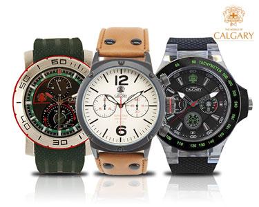 Relógio Calgary® Para Homem | Escolha o Seu