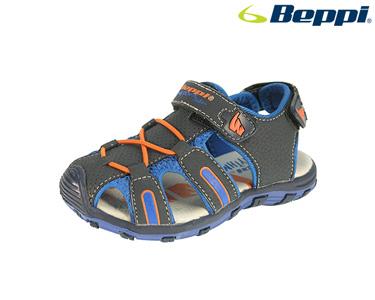 Sandália Beppi®   Azul Marinho e Laranja