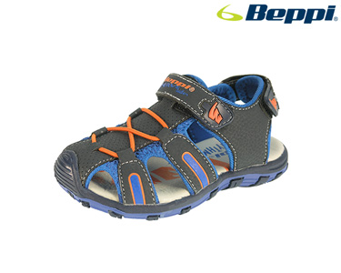 Sandália Beppi® | Azul Marinho e Laranja