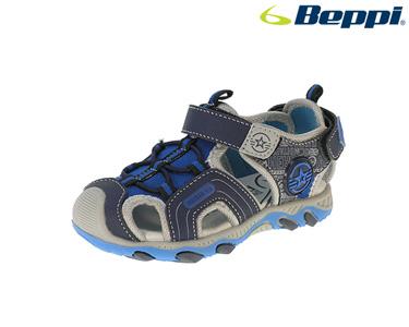 Sandália Casual Beppi® | Azul Marinho e Cinza