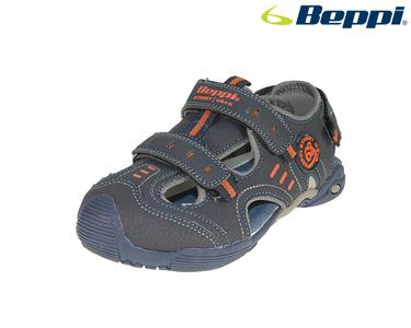 Sandália Casual Beppi® | Azul Marinho e Laranja