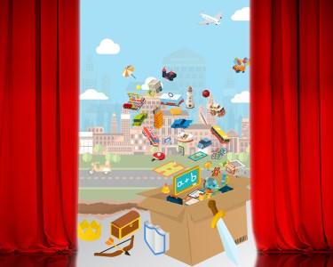 «Histórias de Papelão» | Teatro Infantil de Improvisação - Entrada Dupla | Teatro Turim