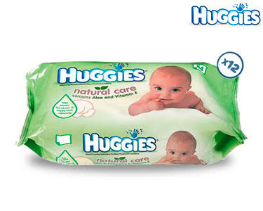 672 Toalhitas Huggies® com Aloe Vera e Vitamina E | Natural Care