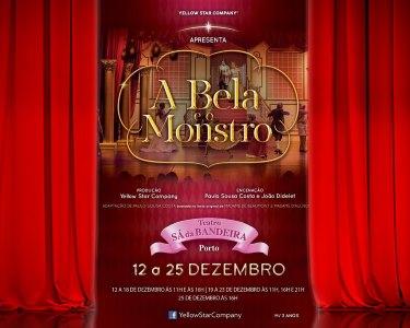«A Bela e o Monstro» | Teatro Infantil no Sá da Bandeira - Porto