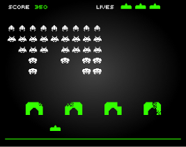 Space invaders by flash feature image