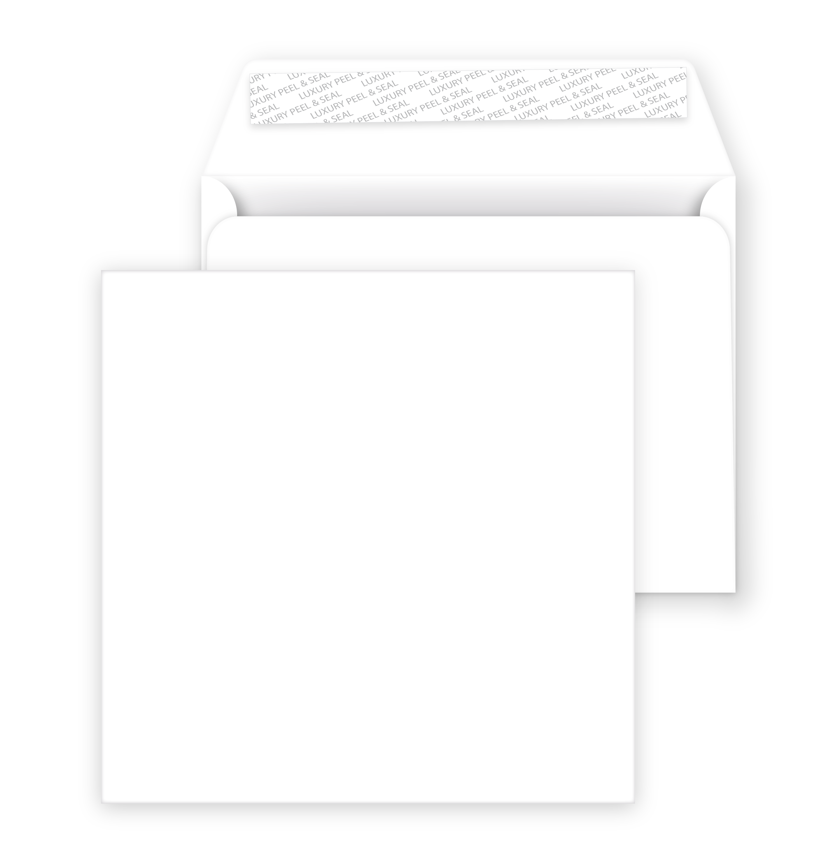 choose pack size Large Square Bright White Card Blanks /& Luxury Envelopes 155mm
