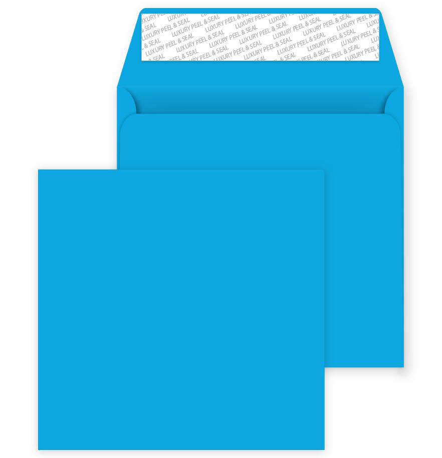 Deep Blue 220mm x 220mm Peel//Seal 120gsm Square Coloured Envelopes