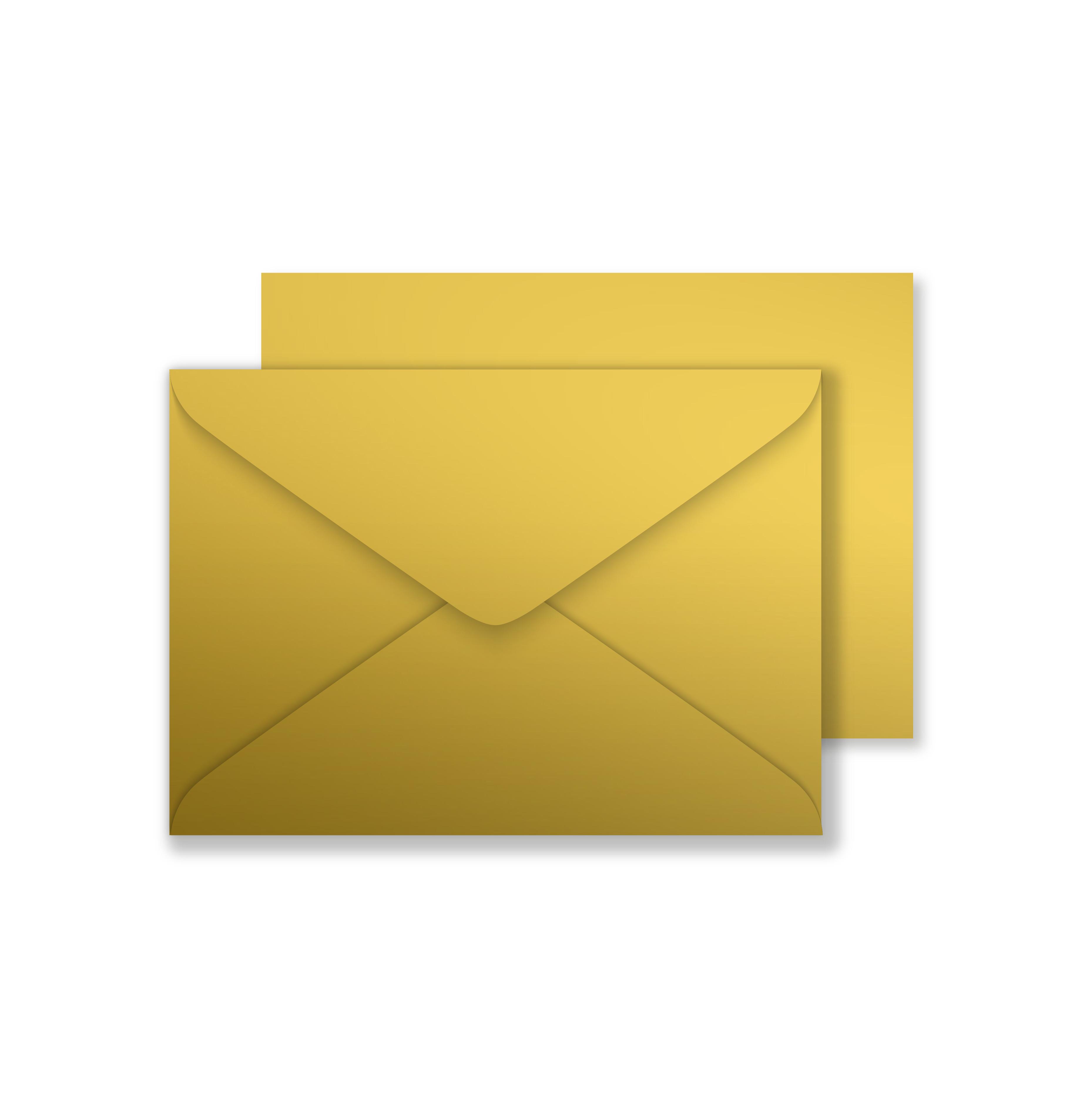luxury c6 envelopes metallic gold