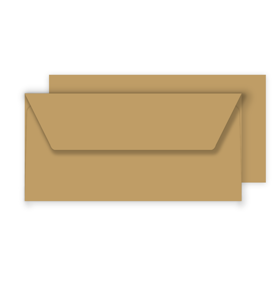 Essentials DL Fleck Kraft Envelopes