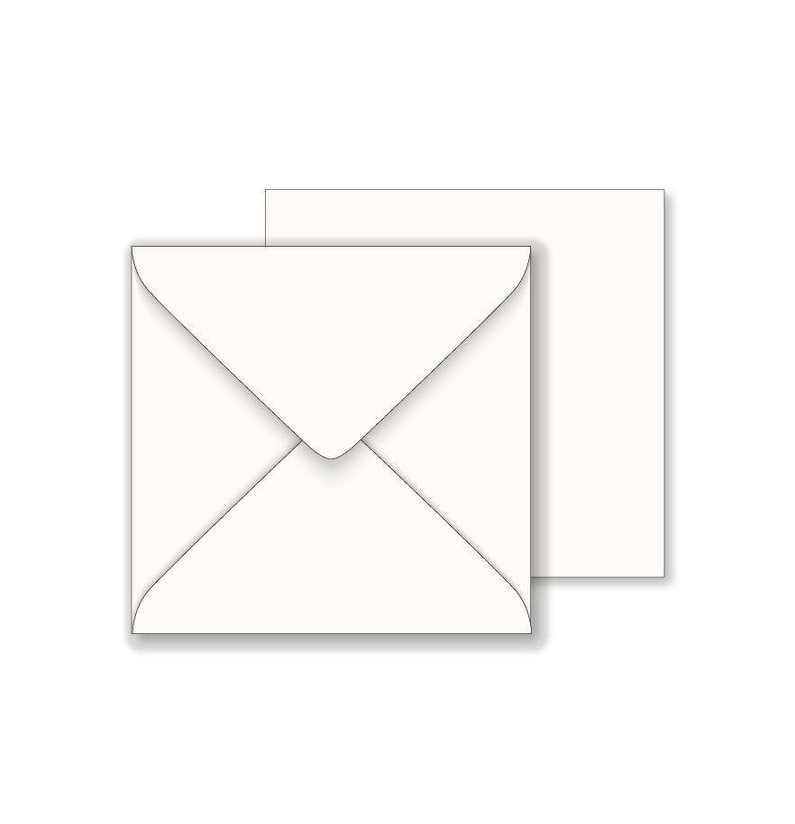 Essentials White Square Envelopes 146mm X 146mm