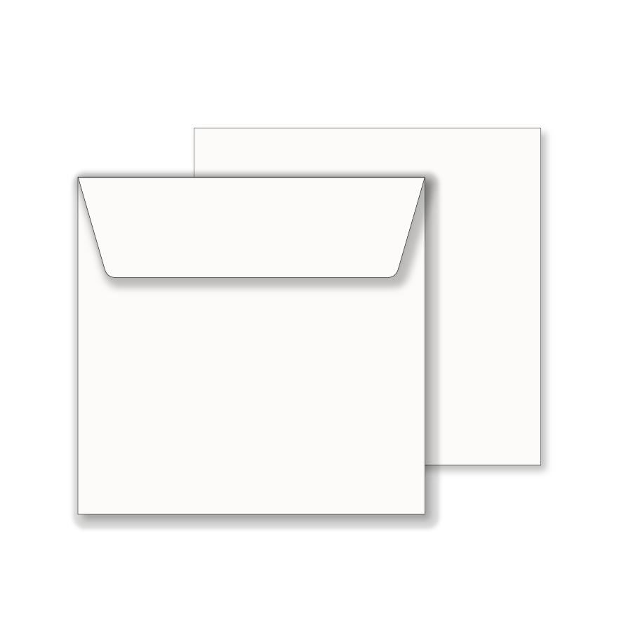 Essentials white wallet square envelope 165mm x 165mm maxwellsz