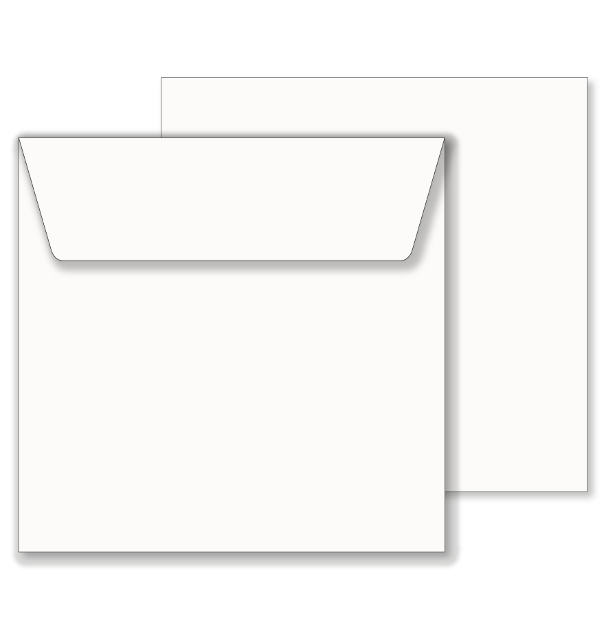 Essentials White Wallet Square Envelope 205mm X 205mm