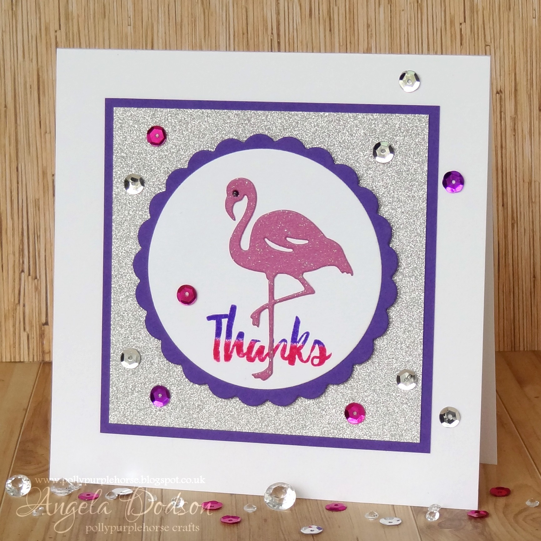 Dovecraft Cutting Dies FLAMINGO CARD MAKING//SCRAP BOOKING