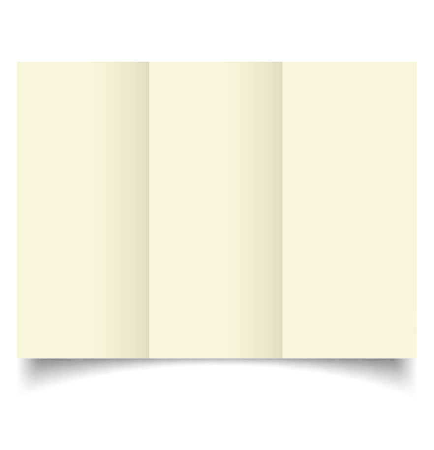 dl trifold ivory card blanks