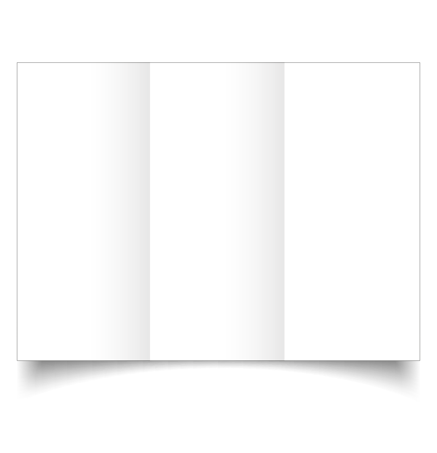 dl trifold white linen card blanks