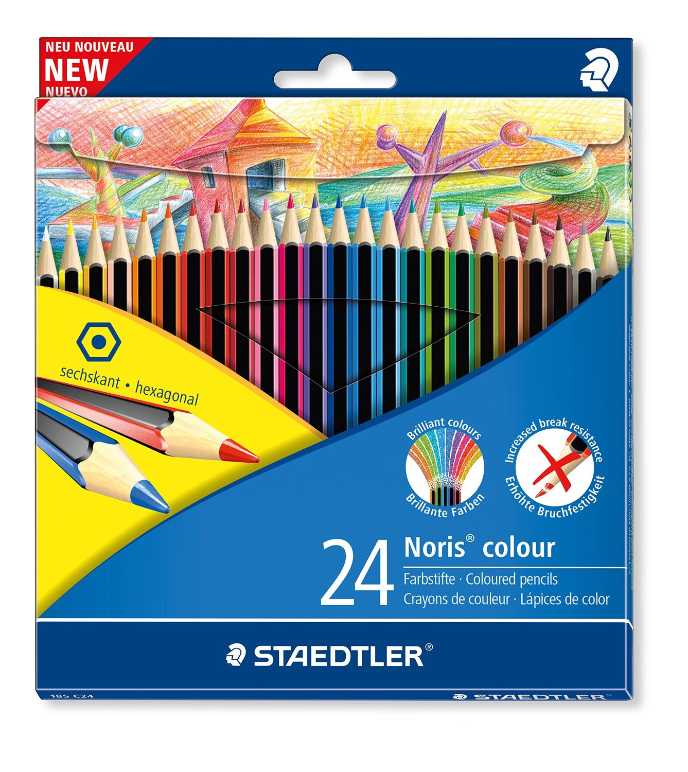 Staedtler Pencils Sketching Colour Pens Triplus Color Fibre Tip Pen 323 20 Magenta Noris Colouring Assorted Pack Of 24 185c24