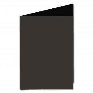 A5 Portrait Black Card Blanks