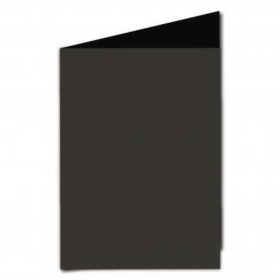 A5 Card Blank Black Smooth