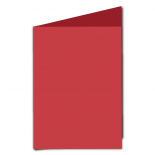 A5 Card Blank Christmas Red
