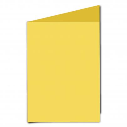 A5 Card Blank Daffodil Yellow