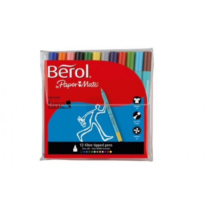 Berol Colour Fine Pens Assorted S0376510 Pack Of 12