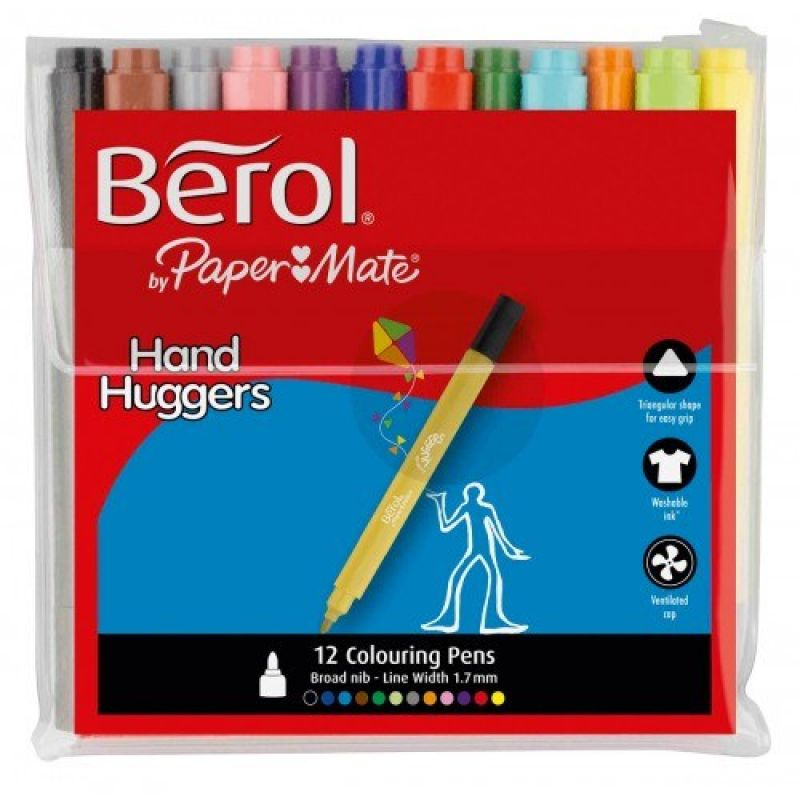 Berol Handhugger Colouring Pens Assorted S0378500 Pack Of 12