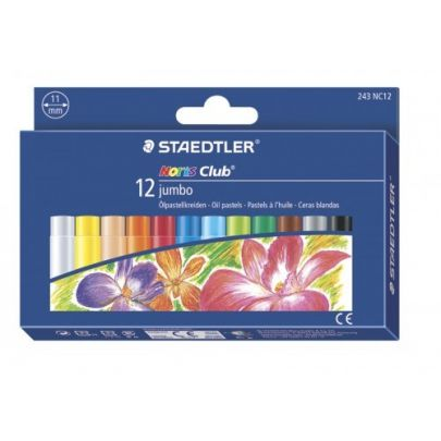 Staedtler Noris Club Jumbo Oil Pastels Box Of 12 243 Nc12