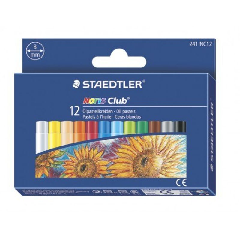 Staedtler Noris Club Oil Pastels Box Of 12 241 Nc12
