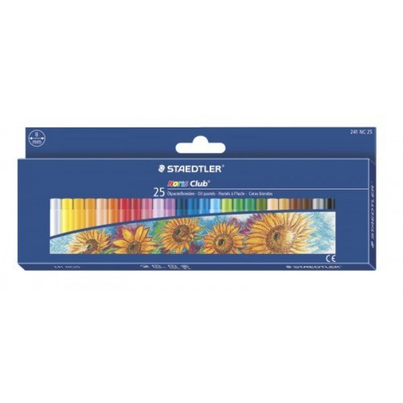 Staedtler Noris Club Oil Pastels Box Of 25 241 Nc25