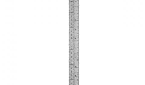 Helix 12 inch 30cm Dead Length Steel Metal Ruler
