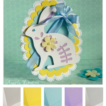 Easter Colour Palette Easter Bunny Card