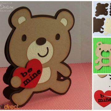 Valentines Day Card Ideas Handmade   Bear