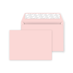 C6 Peel and Seal Envelopes - Baby Pink