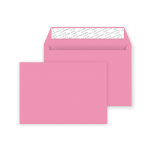 C6 Peel and Seal Envelope - Flamingo Pink