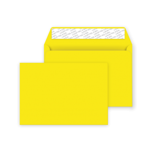 C6 Peel and Seal Envelope - Banana Yellow