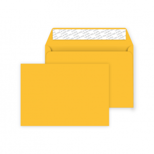C6 Peel and Seal Envelope - Egg Yellow