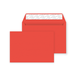 C6 Peel and Seal Envelope - Pillar Box Red
