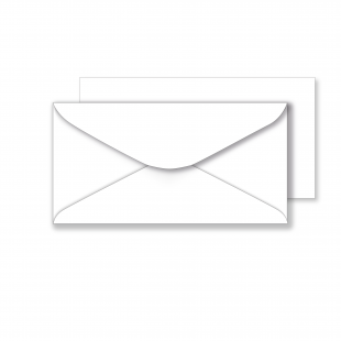 Essentials White Envelopes - 106mm x 206mm