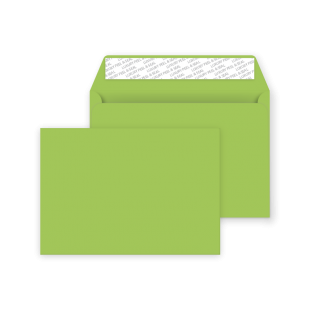 C6 Peel and Seal Envelope - Lime Green