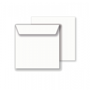 Essentials Square White Envelopes - 111mm x 111mm